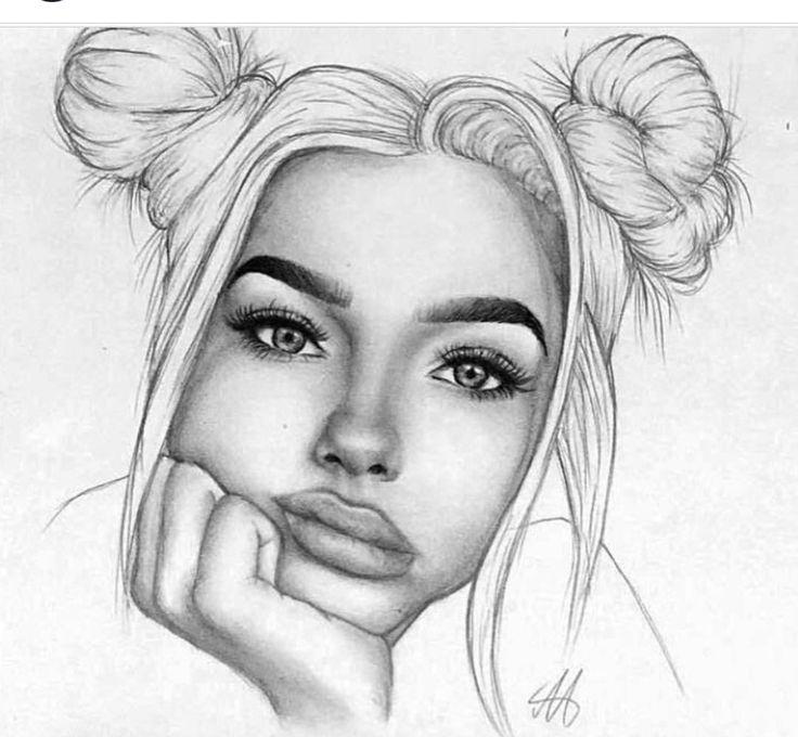 Самые красивые картинки нарисованные карандашом девушки