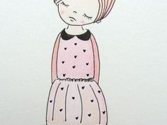 Рисунки для срисовки странные девушки (15 фото)