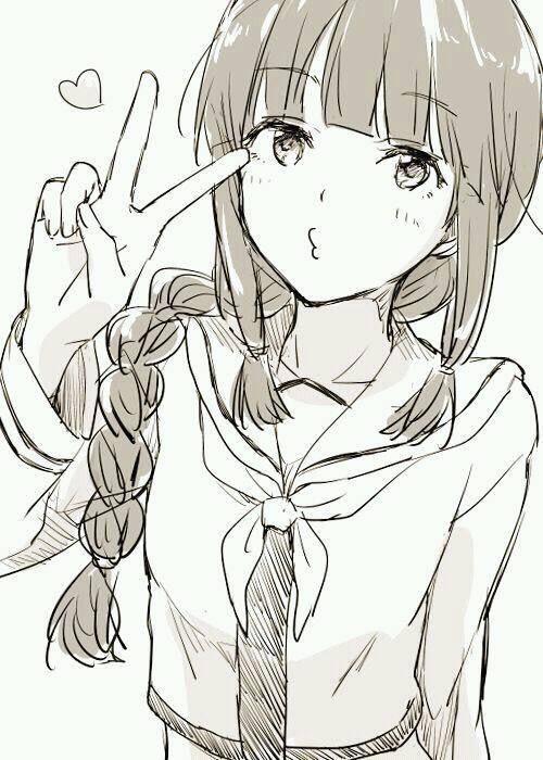 Рисунки для срисовки аниме тян