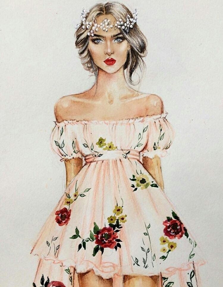 Картинки с модой рисованные