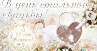 11 лет, годовщина свадьбы: поздравления, картинки — стальная свадьба (12 фото)