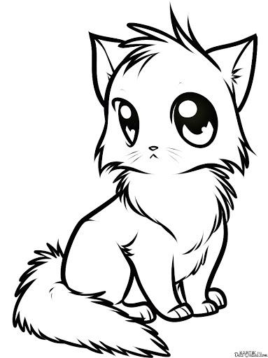 Рисунки для срисовки аниме животные (31 фото) 🔥 Прикольные ...