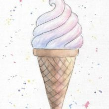 Рисунки для срисовки в скетчбук еда (21 фото)