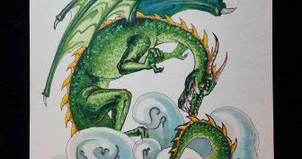 Рисунки для срисовки в скетчбук драконы (27 фото)