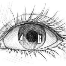 Рисунки для срисовки в скетчбук глаза  (15 фото)