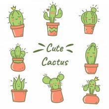 Рисунки для срисовки в скетчбук кактусы (57 фото)