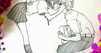 Рисунки карандашом для скетчбука в стиле аниме (26 фото)