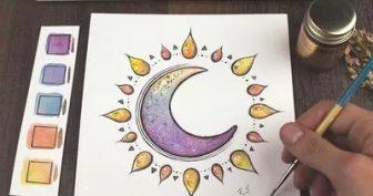 Рисунки для срисовки в скетчбук осень (23 фото)