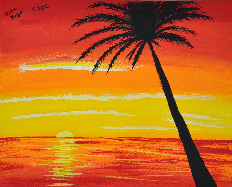 Картинки как рисуют дети закат