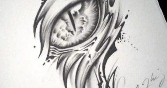 Рисунки для срисовки в скетчбук черным маркером (15 фото)