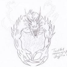 Рисунки для срисовки демоны (16 фото)