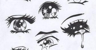 Рисунки карандашом для срисовки глаза (15 фото)