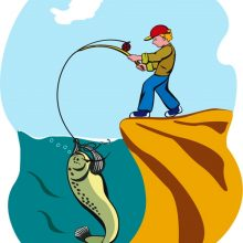 Рисунки на тему рыбалка карандашом (28 фото)