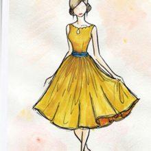 Рисунки девушек в платьях карандашом (32 фото)