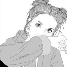 Рисунки девушек карандашом для скетчбука (30 фото)