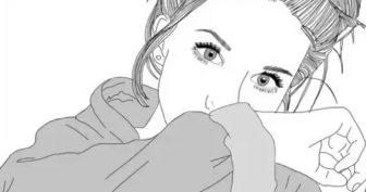 Рисунки девушек карандашом для скетчбука (60 фото)