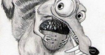 Прикольные рисунки карандашом для срисовки (32 фото)