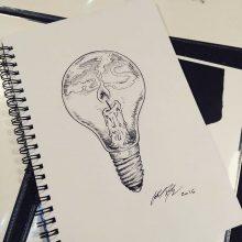 Рисунки для срисовки в скетчбук ручкой (31 фото)