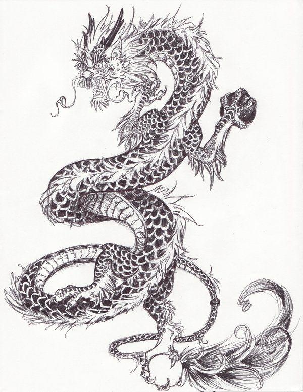 Рисунки карандашом китайский дракон (23 фото) 🔥 Прикольные ...