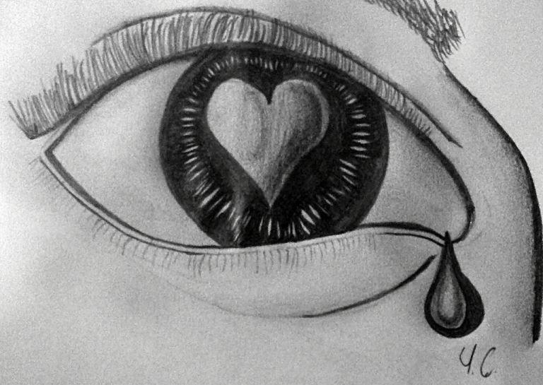 Картинки простым карандашом простые грустные вам