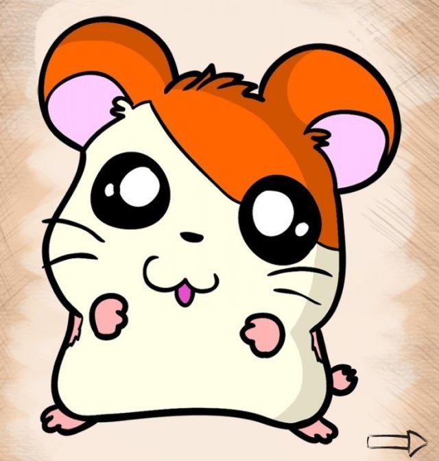 Картинки для срисовки аниме хомячки