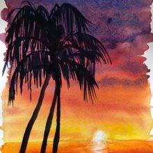 Рисунки для срисовки закат (45 фото)