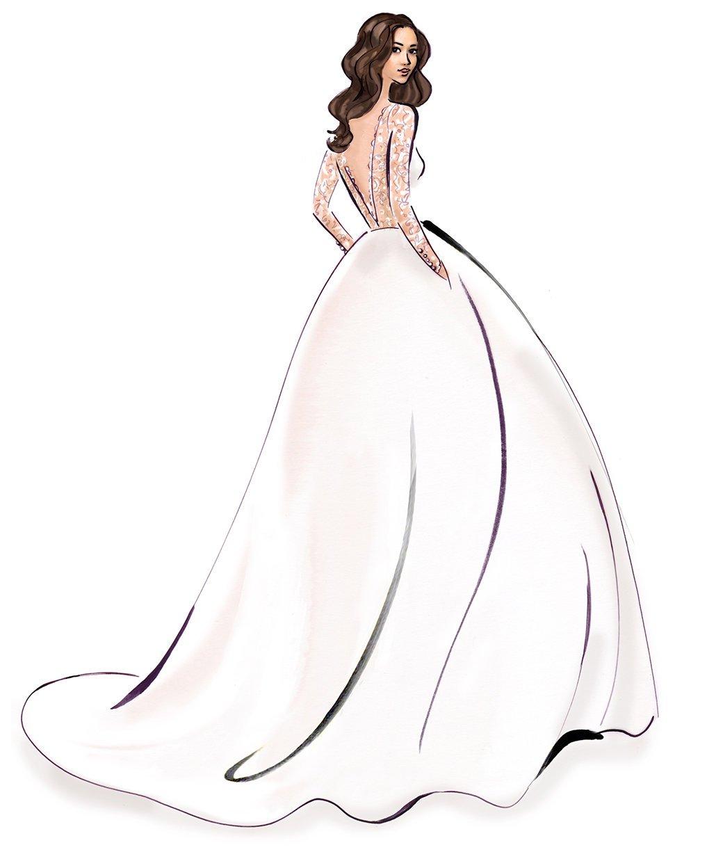 Свадебное платье картинка нарисованная на прозрачном фоне