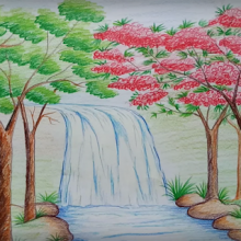 Рисунки карандашом природа (15 фото)