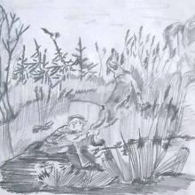 Рисунки к рассказу «Кладовая солнца» карандашом (9 фото)