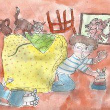 Рисунки к рассказу «Затейники» Носова карандашом (9 фото)