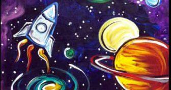 Рисунки для срисовки космос (31 фото)