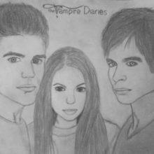 Рисунки для срисовки «Дневники вампира» (15 фото)