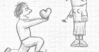 Смешные рисунки карандашом с надписями (16 фото)