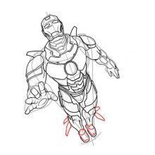 Рисунки для срисовки Мстители (23 фото)