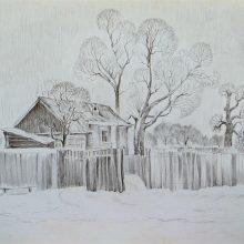 Рисунки карандашом забор (11 фото)