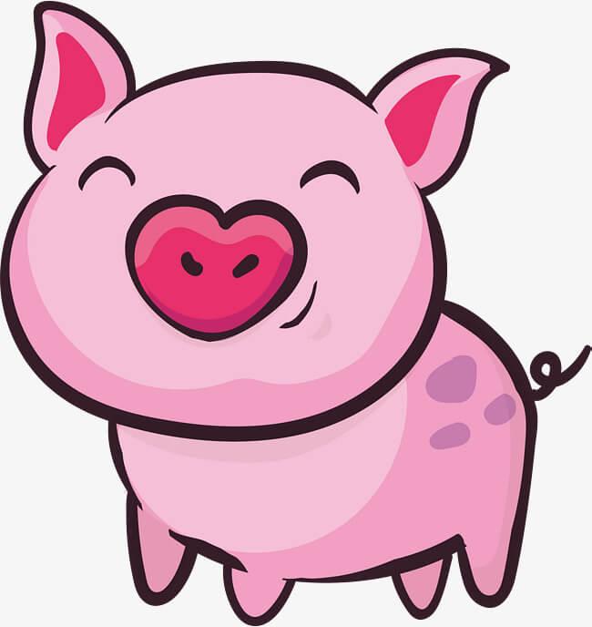 Свинка рисунок для детей