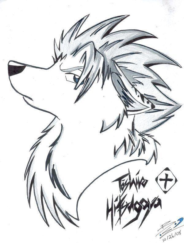 Картинки волков аниме рисовать