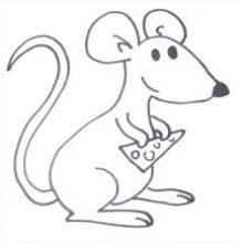 Рисунки карандашом мышка (59 фото)