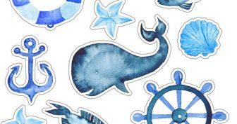Морские рисунки для срисовки (33 фото)