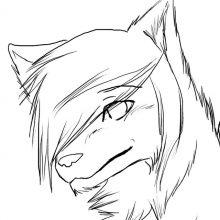 Рисунки волков аниме для срисовки (16 фото)