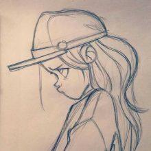 Прикольные рисунки карандашом для девочек (32 фото)