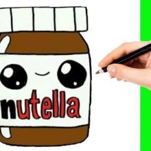 Милые картинки Нутеллы для срисовки (26 фото)
