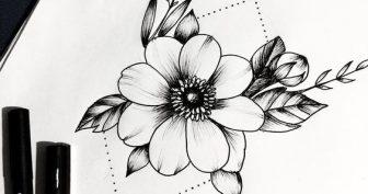 Милые рисунки для срисовки ручкой (28 фото)