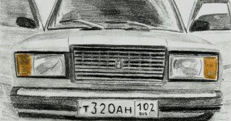 Рисунки карандашом машины БПАН (68 фото)