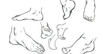 Рисунки ступни человека карандашом (16 фото)
