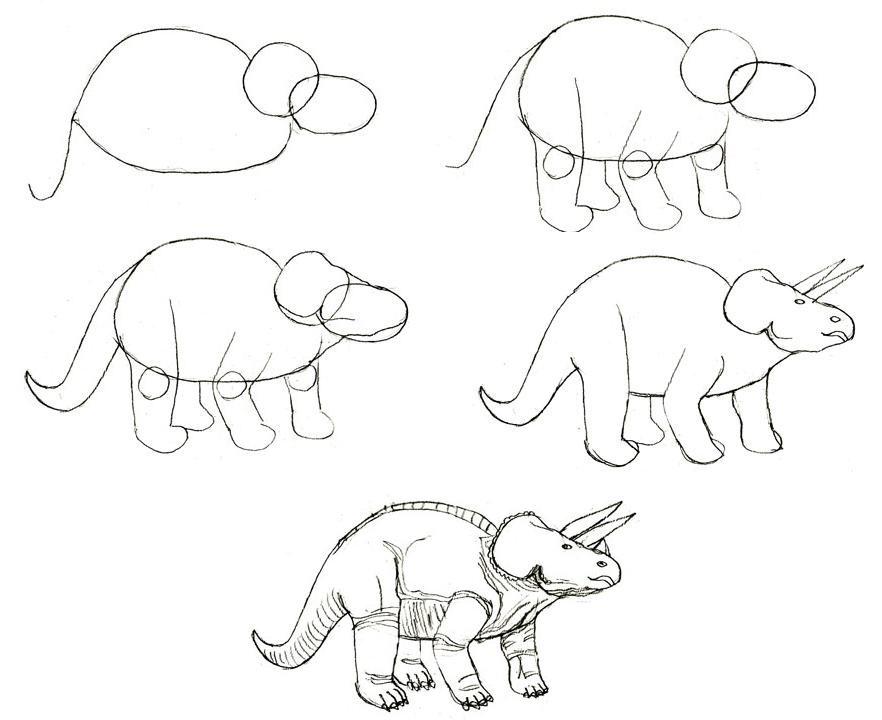 много рисовать рисунки динозавры легкие пасхи легкой вода