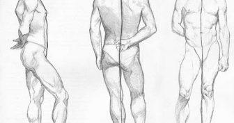 Рисунки карандашом тело мужчины (25 фото)