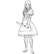 Рисунки карандашом Алиса в стране кошмаров (20 фото)