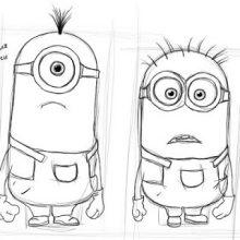 Картинки Миньонов для срисовки карандашом (27 фото)