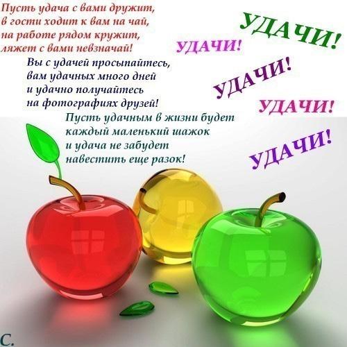 Пожелать удачи на работе девушке работа в массажном салоне для девушек в москве
